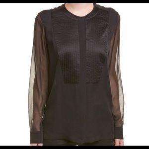 Escada sheer black blouse
